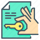 hand, house, key, property, sell, close on property, sell house icon