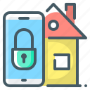house, lock, mobile, protection, security, smart, smart house icon