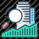 space, buildings, analysis, asset, utilization, asset utilization, utilization of space icon