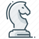 chess, horse, strategy, chess figure