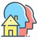 co-living, estate, home, house, living, sharing, home sharing icon