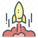 launch, mission, rocket, start, startup, spaceship icon