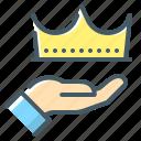 crown, luxury, premium, vip, royal icon