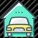car, estate, garage, property, real estate, vehicle icon