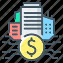 city, finance, fintech, money, business, real estate, real estate fintech icon