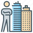 agent, broker, buildings, landlord, rental, property agent, rental broker icon