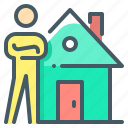 agent, broker, house, landlord, rental, property agent, rental broker icon