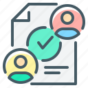 document, contract, tick, check mark icon