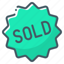 badge, sold icon