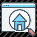 find, home, house, magnifier, website, find home, find house