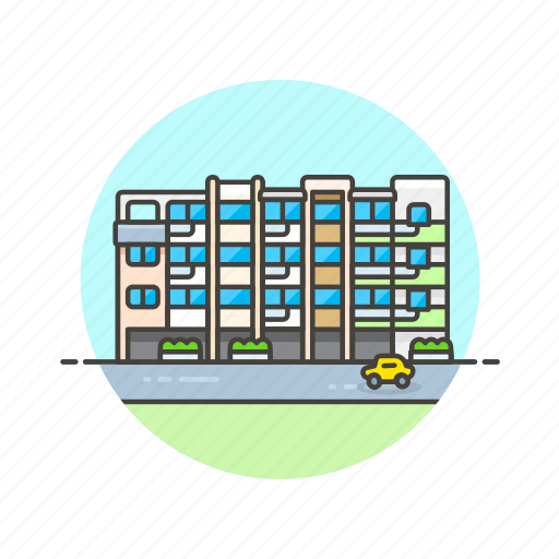 apartment, architecture, building, construction, estate, property, real icon