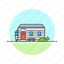 building, camper, construction, estate, home, house, property, real icon