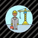 construction, engineer, estate, real, site, build, helmet, man