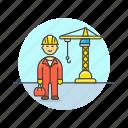 constructing, construction, engineer, estate, real, site, helmet, man