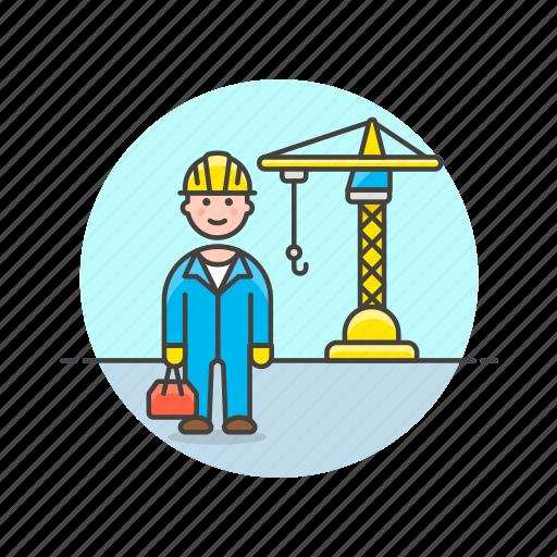 build, construction, engineer, estate, helmet, man, real, site icon