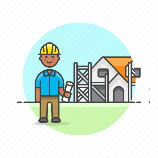 construction, estate, foreman, helmet, property, real, site icon