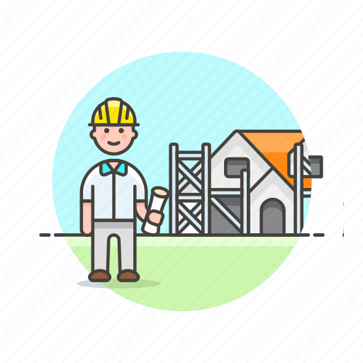architect, build, construction, estate, foreman, house, real, site icon
