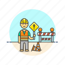 asian, construction, estate, male, real, worker icon