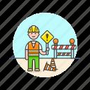 caucasian, construction, estate, male, real, worker icon