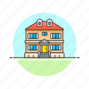 apartment, building, construction, estate, home, house, property, real icon