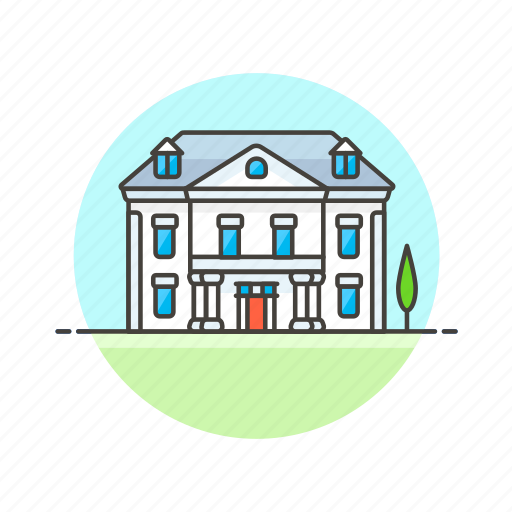 apartment, building, construction, estate, house, property, real icon