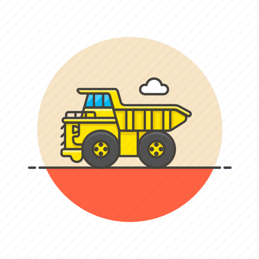 construction, estate, haul, mechanical, powertrain, real, transport, truck icon