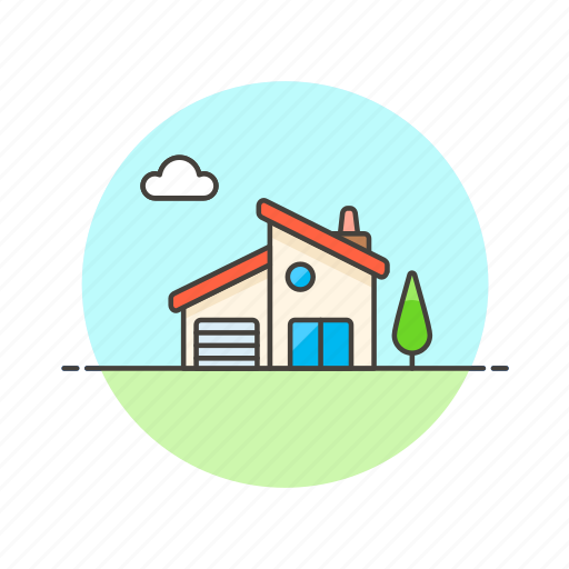 building, construction, estate, home, house, modern, property, real icon