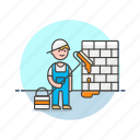 building, construction, estate, paint, real, wall, work icon