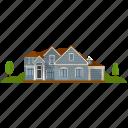 apartment, house, real estate, urban home, villa icon