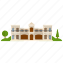 apartment, house building, real estate, residential building, villa icon
