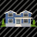 apartment, bungalow building, house, real estate, villa icon