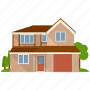 apartment, house, real estate, residential building, villa icon