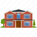 apartment, architecture, house, real estate, residential building, villa icon
