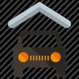 car, garage, transportation icon