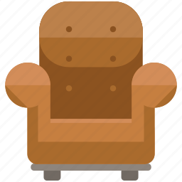 armchair, chair, estate, furniture, real icon