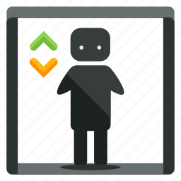 down, elevator, estate, feature, real, up icon
