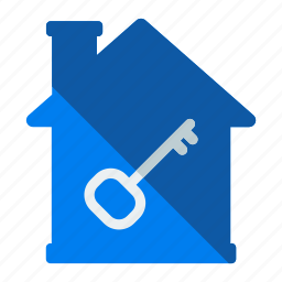 estate, feature, home, house, housekey, key, real icon