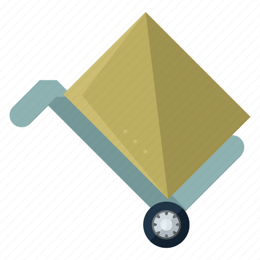 box, estate, move, moving, package, real icon
