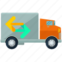 moving, transpotation, truck icon