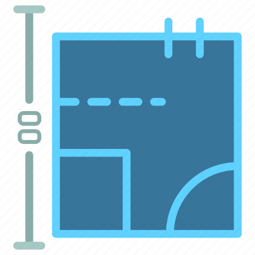 blueprints, construction, estate, feature, plan, real, size icon