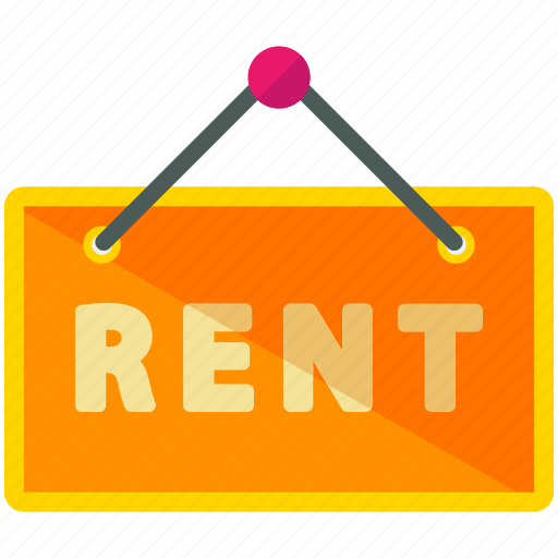 rent, sign icon