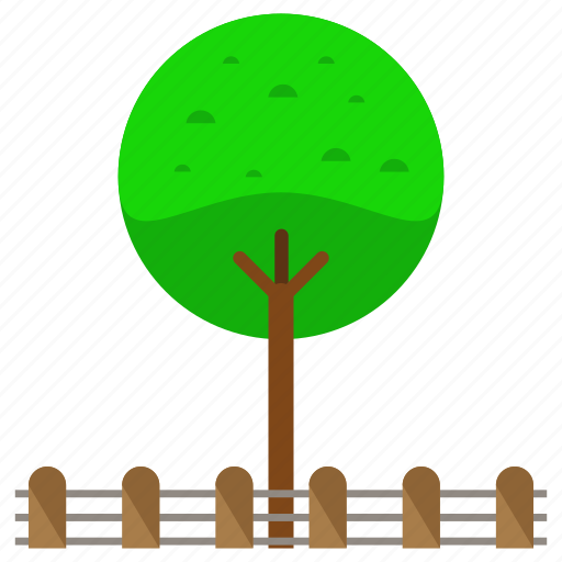 estate, nature, park, real, round, tree icon