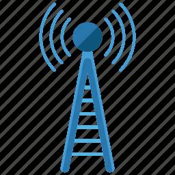 communication, estate, feature, internet, real, satellite, wireless icon