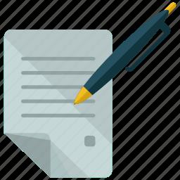 contract, document icon