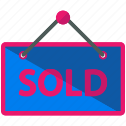sign, sold icon