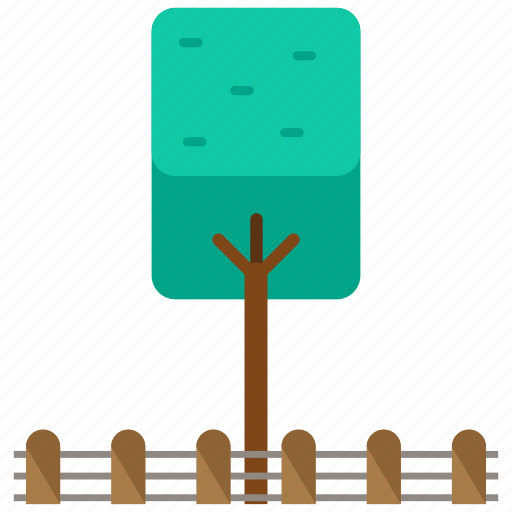 fence, tree icon