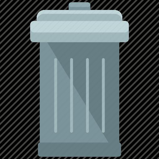 bin, estate, feature, real, rubbish, trash icon
