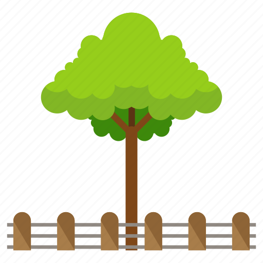 estate, fence, nature, park, real, tree icon