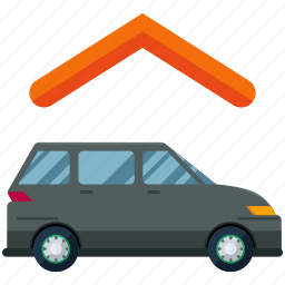 estate, feature, garage, real, roof, van, vehicle icon