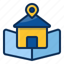 architechture, building, house, realestate, location, map icon